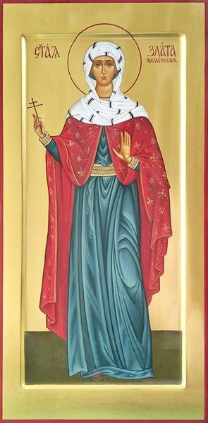 Icon: Holy Martyr Zlata (Hrisa) of Moglen