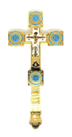 Holy table blessing cross - A608 (blue)
