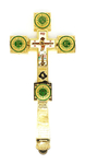 Holy table blessing cross - A608 (green)