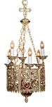 One-layer church chandelier (horos) - Elets (6 lights)