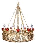One-layer church chandelier (horos) - Elabouga (10 lights)