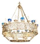 One-layer church chandelier (horos) - Bezhetsk (10 lights)