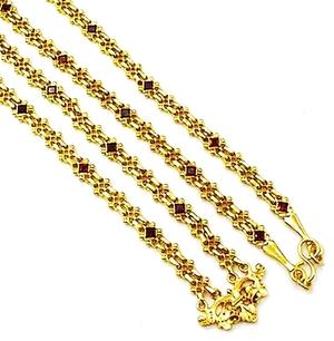 Pectoral cross chain no.252 (claret)