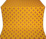 Bishop silk (rayon brocade) (yellow/gold with claret)