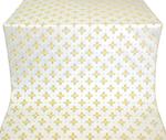 Bishop silk (rayon brocade) (white/gold)