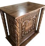 Carved memorial table - U4