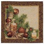 Tapestry Nativity napkin set - 12