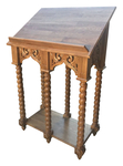 Double Greek carved lectern - S7