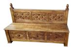 Carved Bishop altar seat - S14