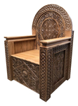 Carved Bishop throne - S15
