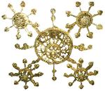 Five-center church chandelier
