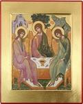 Icon: Holy Trinity - C10 (4.6''x5.7'' (11.8x14.6 cm))