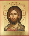 Icon: Christ Pantocrator - C11 (4.6''x5.7'' (11.8x14.6 cm))