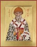Icon: Holy Hierarch St. Spyridon of Tremethius - C13 (4.6''x5.7'' (11.8x14.6 cm))