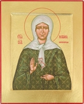 Icon: Holy Blessed Matrona of Moscow - C15 (4.6''x5.7'' (11.8x14.6 cm))