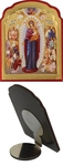 Icon for car: Most Holy Theotokos the Joy of All Who Sorow - C57