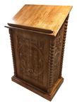 Carved church lectern - U17