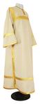 Clergy stikharion - natural linen (white-gold)